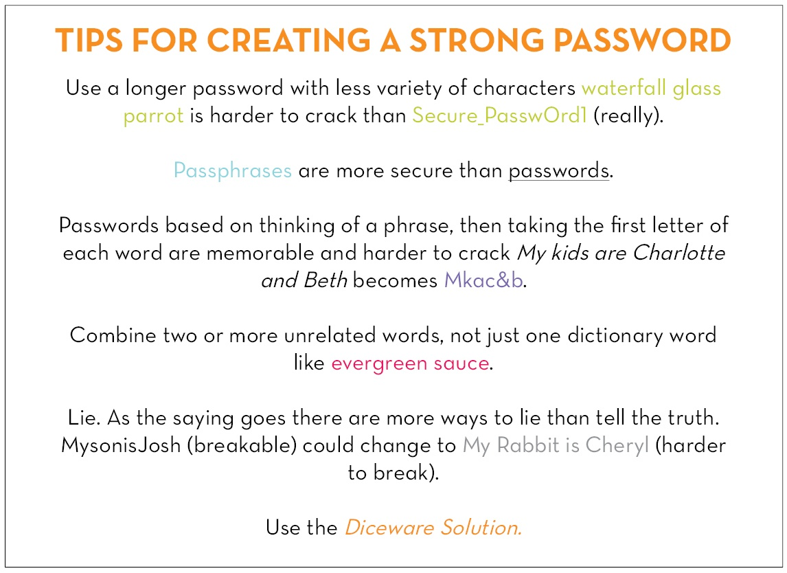 Q  How can I create an unbreakable password?